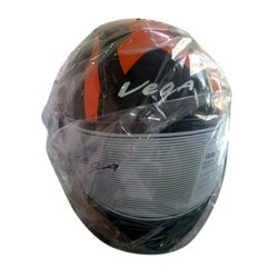 Plastic Black Vega Full Face Bike Helmet, Size: Medium