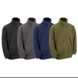 Collar Neck Black Polar Fleece Jackets