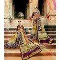 Designer Casual Wear Organza Silk Saree In Multi Color