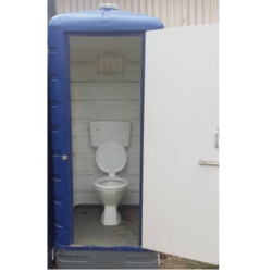 FRP White One Seater Western Toilet Cabin