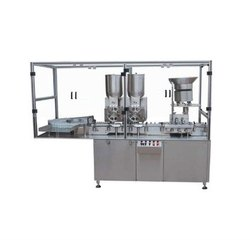 Automatic Injectable Powder Filling And Rubber Stoppering Machine