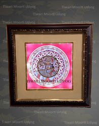 Multicolor Tiwari Moorti Udyog Marble Plate With Frame, Shape: Square