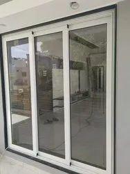 White Aluminium Sliding Door, For Office, Interior