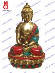 Buddha Sitting Aamitabha W/Stone Work Statue