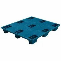 Blue Rectangular HDPE Injection Moulded Plastic Pallets