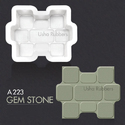 Paver Plastic Mould Gem Stone