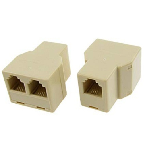 Off White RJ11 Cable Jointer