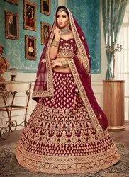 c6b344ea86 Semi-Stitched Velvet Navy Blue Bridal Lehenga Choli, Rs 10165 /piece ...