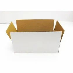 3 Ply White Packaging Corrugated Box 8x5x2 inches