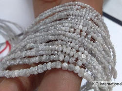 Creamy White Diamond Uncut Beads