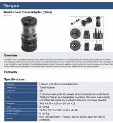 Targus World Power Travel Adapter