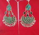 Nk Enterprises Nk Handmade Tribal Afghani Earring German Silver, Size: Free