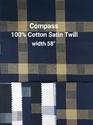 Cotton Satin Twill Shirting Fabric (Compass)