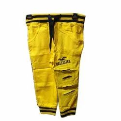 Cotton Casual Wear Kids Jogger Pant, Free Size, Age: 6-10 Years