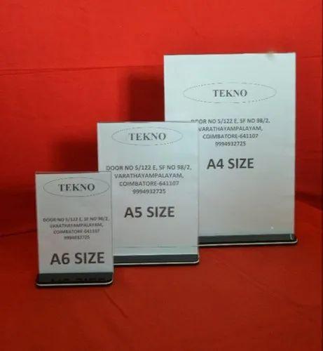 Acrylic Display Stand With Base