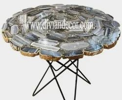 Celestial Agate Side Table