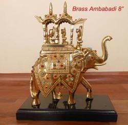 Decorative Brass Lekar Elephant Statues