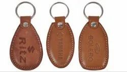 Imported Premium Quality Genuine Leather Multi Color Key Chain for Bikes & Cars