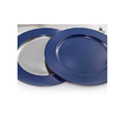 Blue Round Charger Plate (color Pattern)