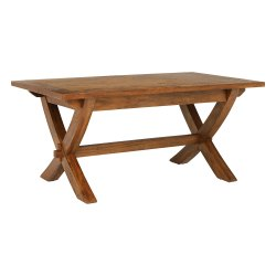 Brown 6 Seater Solid Wood Dining Table, For Home, Size: 175 (l) X90 (w) X 78 (h) Cm