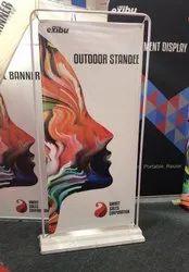 EXIBU Outdoor Banner Stand
