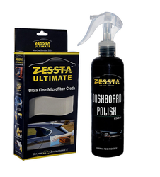 Zessta Dashboard Polish 250 Ml And Microfiber Cloth