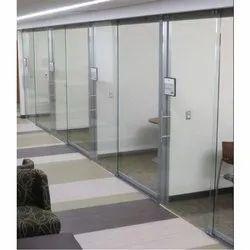 Hinged Frameless Glass Door for Office