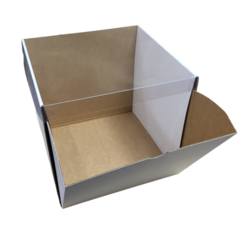 Clear Top Cardboard Boxes