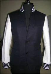 Coat Style Varsity - Navy White
