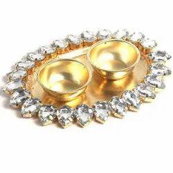 Ravi Rajvi Brass Oval Thali, For Gift