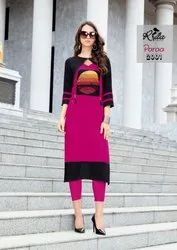 3/4th Sleeve Premium Heavy Rayon 14kg With Inner Kurti