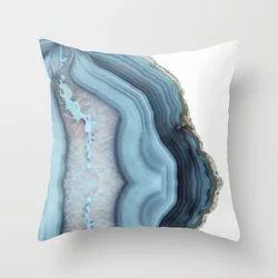 Blue Designed Box Cushion