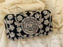 Handwork Silver Zari Box Clutch