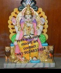 marble  Ganesh Statue on singhasan