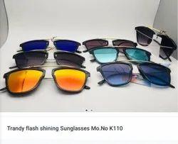 Male Black Flash Shining Sunglasses