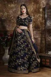 Semi-Stitched Wedding Wear Lehenga Choli
