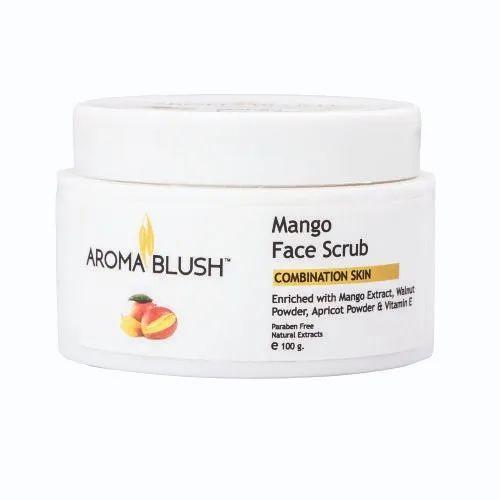 Aroma Blush Mango Face Scrub for Parlour, Pack Size: 500g, 100g