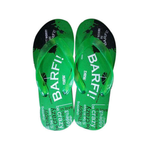 Barfi Mens Rubber Green Slipper, Size: 2-9