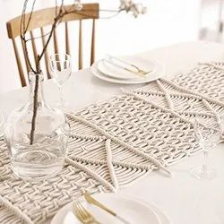 Handmade Cotton Macrame Customized Design Macrame Dining Table Runner
