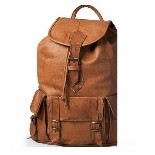 906e2fb872b Brown Leather College Bag, चमड़े का कॉलेज बैग - N. S. ...