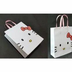 White Printed Handmade Paper Bags