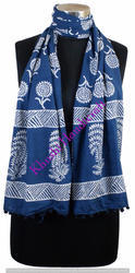 Hand Block Printed Cotton Stoles