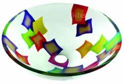 Pillow Print Glass Wash Bowl