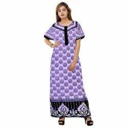 Sleepwear Night Dress Designer Stylish Nightwear Gowns, Size: XL