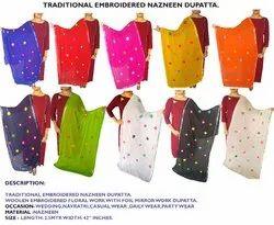 Nazneen Dupatta - Woolen Lightweight Embroidered Dupatta