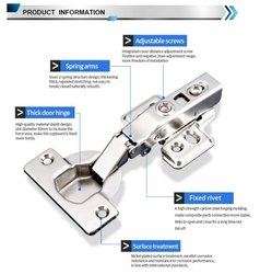 Stainless Steel Thick Door Soft Close Hinge