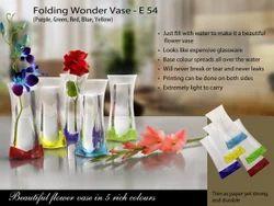 Polished Glass Folding Wonder Vase, For Home