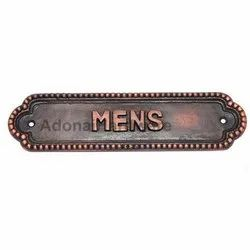 Mens Brass Sign
