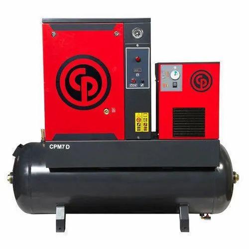 Chicago Pneumatic 5 HP Screw Air Compressor
