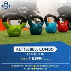 Fixed Weight Cast Iron kettlebell combo